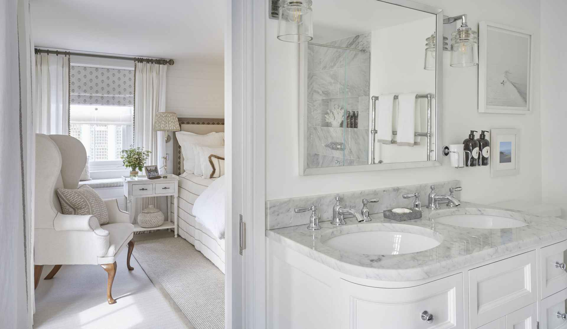Sink in the en suite at Mountain Ash House
