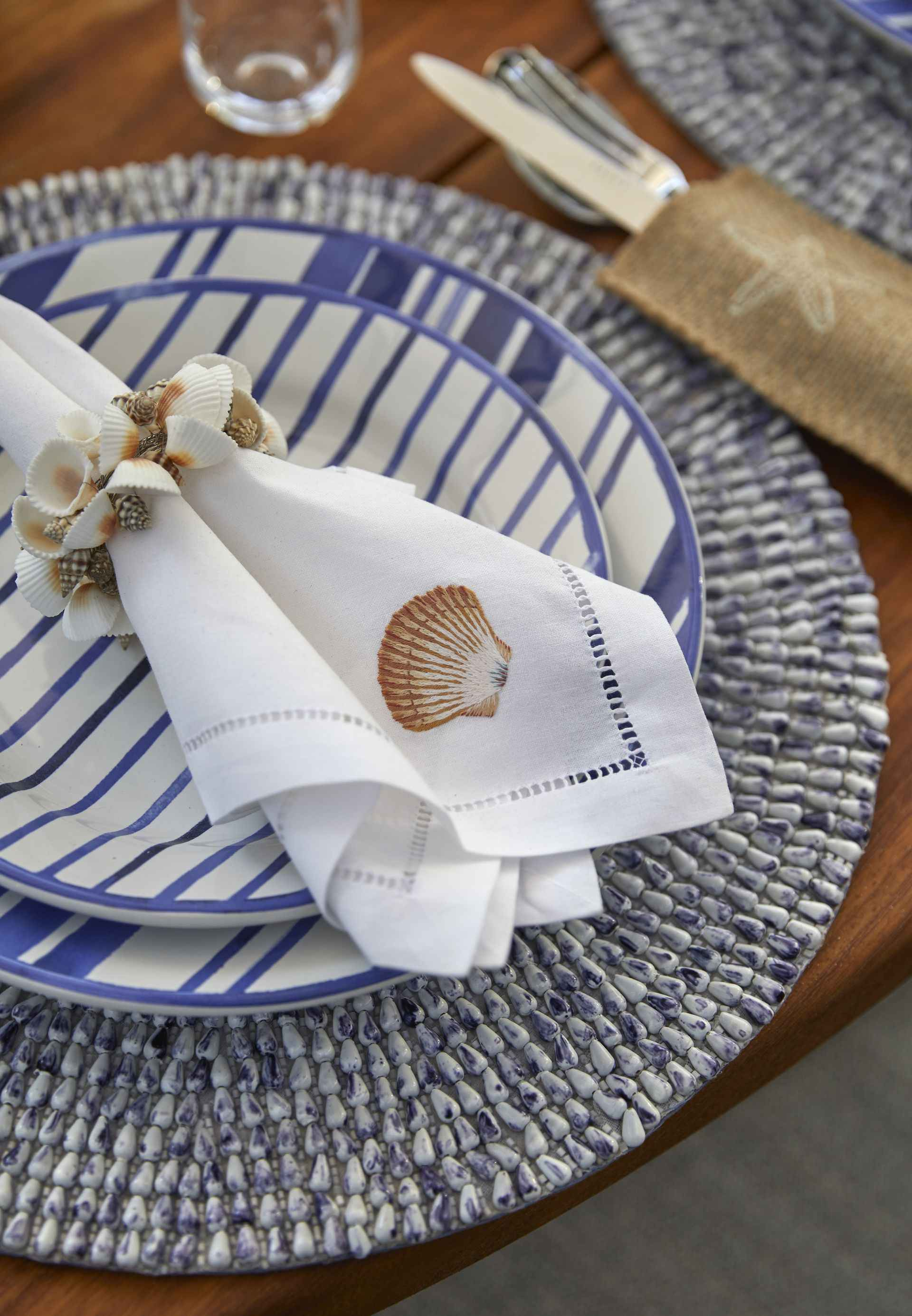 Mountain Ash House cloth napkins on plate
